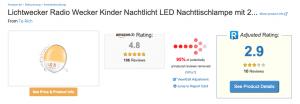 Die Übernahme von Amazon durch AliExpress  am Beispiel von Lichtweckern 3
